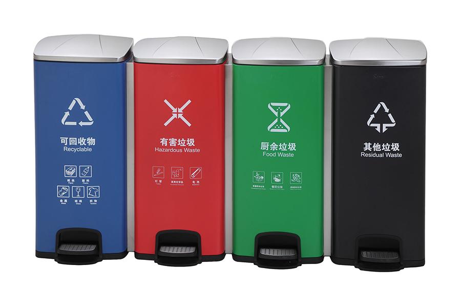 不锈钢分类垃圾桶成为分类设备市场主流产品