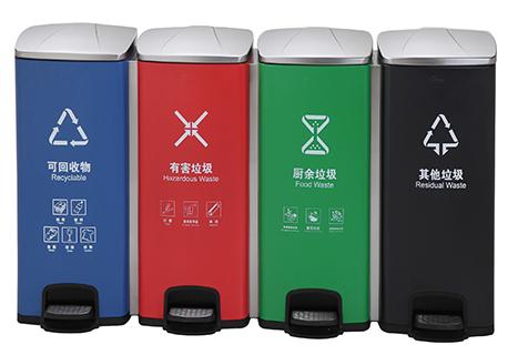智丽纳—不锈钢分类垃圾桶的作用和意义